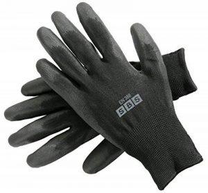 12paires de gants en nylon Taille 9Gants Gants de travail Vêtements Gants de protection de construction (L (Large) de la marque SBS image 0 produit