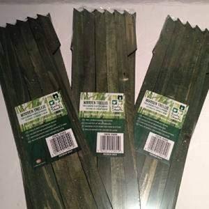 3X Jardin jardiniers Vert en bois coloré extensible extensible de jardin en bois Treillis chaque pièce Étend au 150x 30cm NEUF de la marque Roots & Shoots image 0 produit