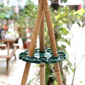 5pcs Bambou Wig-wam support caches de tuteurs de jardin Cane Grips pour plantes grimpantes Peas grains Structure de support (Vert) de la marque KINGLAKE image 0 produit