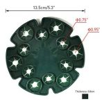 5pcs Bambou Wig-wam support caches de tuteurs de jardin Cane Grips pour plantes grimpantes Peas grains Structure de support (Vert) de la marque KINGLAKE image 2 produit