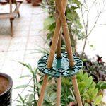 5pcs Bambou Wig-wam support caches de tuteurs de jardin Cane Grips pour plantes grimpantes Peas grains Structure de support (Vert) de la marque KINGLAKE image 3 produit