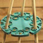 5pcs Bambou Wig-wam support caches de tuteurs de jardin Cane Grips pour plantes grimpantes Peas grains Structure de support (Vert) de la marque KINGLAKE image 4 produit