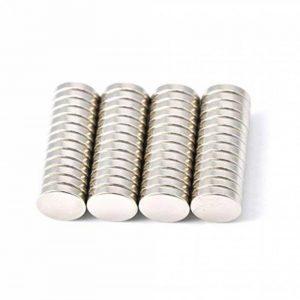 52 pièce Aimant de néodyme 10 mm de diamètre x 2 mm d'épaisseur avec 2.2 kg Traction (lot de 52) Magenesis® de la marque Magenesis image 0 produit