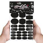 84 Noir Kitchen Labels · Cuisine Tableau Autocollants de la marque the Label Factory by favlov image 3 produit