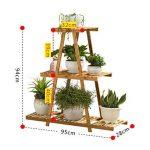Affichage Extérieur De Patio Extérieur De Fleur D'échelle D'usine De Bambou De 3 Niveaux 28 * 95 * 94cm de la marque Fleur étagère image 1 produit