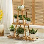 Affichage Extérieur De Patio Extérieur De Fleur D'échelle D'usine De Bambou De 3 Niveaux 28 * 95 * 94cm de la marque Fleur étagère image 2 produit
