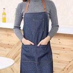 Aivtalk Femme Tablier Longue en Denim Licou Réglable Tablier en Jeans pour Cuisine Restaurant Café 71*65cm de la marque Aivtalk image 1 produit