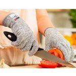 Amgaze Gants Anti-Coupure Protection - Gants de coupe de qualité alimentaire de niveau 5 pour la cuisine et les chantiers de construction et l'horticulture et l'abattage (XL) de la marque Amgaze image 1 produit