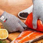 Amgaze Gants Anti-Coupure Protection - Gants de coupe de qualité alimentaire de niveau 5 pour la cuisine et les chantiers de construction et l'horticulture et l'abattage (XL) de la marque Amgaze image 2 produit