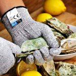 Amgaze Gants Anti-Coupure Protection - Gants de coupe de qualité alimentaire de niveau 5 pour la cuisine et les chantiers de construction et l'horticulture et l'abattage (XL) de la marque Amgaze image 3 produit