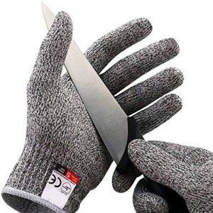 Amgaze Gants Anti-Coupure Protection - Gants de coupe de qualité alimentaire de niveau 5 pour la cuisine et les chantiers de construction et l'horticulture et l'abattage (XL) de la marque Amgaze image 0 produit