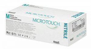 Ansell Medical 313040LG Micro-Touch Nitrile (6 N), gant d'examen non stérile en nitrile, non poudré, taille L, Blanc (Pack de 150) de la marque Ansell Medical image 0 produit