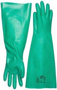 Ansell Sol-Vex 37-186 Gants en nitrile, protection contre les produits chimiques et les liquides, Vert de la marque Ansell image 0 produit