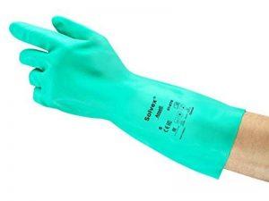 Ansell Sol-Vex 37-675 Gants en nitrile, protection contre les produits chimiques et les liquides, Vert de la marque Ansell image 0 produit
