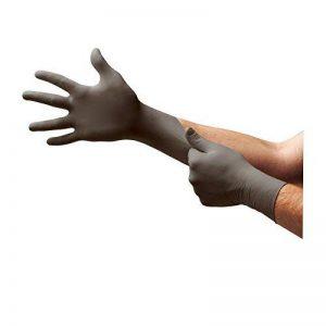 Ansell TouchNTuff 93-250 Gants en nitrile, protection contre les produits chimiques et les liquides, Anthracite, Taille 8.5-9 (Boîte de 100 gants) de la marque Ansell image 0 produit