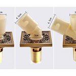 Archaistic Laiton carré machine à laver Art sculpté Siphon de sol irrégulières Tuyau de la marque Blancho image 1 produit