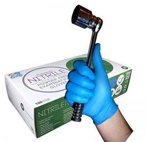 ASAP Supérieur Jetable Lourd Devoir Bleu Sans Poudre Gants d'Examen en Nitrile - Boîte 100 - Tatoueur Mécanicien Médical (M) de la marque ASAP image 0 produit
