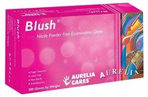 Aurelia Blush Rose en nitrile sans poudre (200S) sans latex Gants jetables de la marque image 0 produit