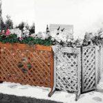 Bac à fleurs avec treillage ORTH 144x105 cm en bois de pin de la marque GASPO image 1 produit
