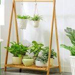 Bambou 1tier En Bois Pot Étagère Fleur Support De Fleurs Pour L'intérieur Pot De Fleurs Herb Présentoir de la marque Fleur étagère image 1 produit