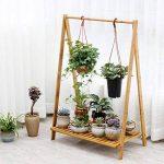 Bambou 1tier En Bois Pot Étagère Fleur Support De Fleurs Pour L'intérieur Pot De Fleurs Herb Présentoir de la marque Fleur étagère image 2 produit