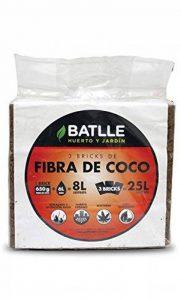 Batlle 960090pic Lot de 3 briques de fibre de coco 650 g chacune de la marque Batlle image 0 produit
