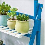 Bleu 3 Niveaux Plante Échelle Bambou Multifonctionnel Plante Fleur Pot Stands Intérieur Extérieur ( taille : 100*40*96CM ) de la marque Fleur étagère image 3 produit