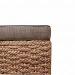 Büloo Banc de lit, banc de chambre, banc de couloir, Banquette range-chaussures avec tabouret pliable, boîte de rangement en jacinthe d'eau naturel, avec pieds, 70x30x40cm Grau de la marque Büloo image 3 produit