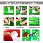 Bornfeel Étiquette de Cables 480 Étiquettes 16 Feuilles Auto-adhésif Autocollant Étanche Résistant à la déchirure Durable pour Marquer Identifier et Organiser le Fil Cables 8 Couleurs de la marque BornFeel image 3 produit