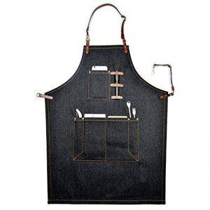 Boshiho Denim Jean Tablier de travail réglable, Shop Tablier Chef Tablier pour homme et femme de la marque boshiho image 0 produit