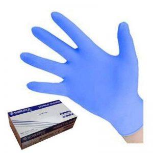 Boîte de 100gants jetables en nitrile Bleu Taille L ou XL AQL: 1,5 de la marque Workshop Plus image 0 produit