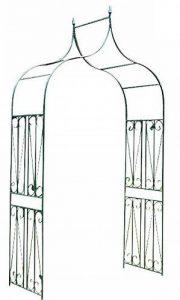 CLP Arcade pour Rosiers en Fer avec Revêtement en Poudre, Arceau de jardin de bonne qualité et durable très stable avec un design Elégant, Largeur au choix 40, 60 cm Support pour plantes grimpantes environ P 60 cm, L 130 cm, H 265 cm de la marque CLP image 0 produit