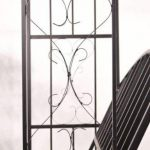 CLP Arche à Rosiers Métallique COMFORT avec Banc | Arceau de Jardin Stable pour 2 Personnes | Support pour Plantes Grimpantes Résistant avec Banc Élégant noir de la marque CLP image 4 produit