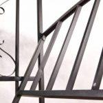 CLP Arche à Rosiers Métallique COMFORT avec Banc | Arceau de Jardin Stable pour 2 Personnes | Support pour Plantes Grimpantes Résistant avec Banc Élégant noir de la marque CLP image 3 produit