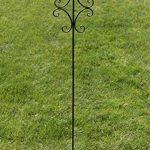 CLP Tige de rang pour plantes romantique BENITA en fer, hauteur: 148,5 cm, idéal pour les plantes grimpantes, bronze de la marque CLP image 3 produit