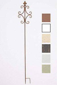 CLP Tige de rang pour plantes romantique BENITA en fer, hauteur: 148,5 cm, idéal pour les plantes grimpantes, marron antique de la marque CLP image 0 produit