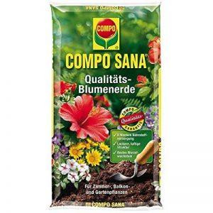 Compo Sana Terreau pour fleurs de qualité Terre 20liter–Terreau universel avec composition unique pour une croissance des plantes de la marque Compo image 0 produit