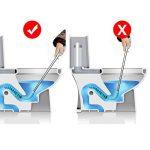 Déboucheur ventouse avec de puissants Nettoyé WC Tuyau–Xrexs Toilettes Dredge conçu pour siphon type, respectueux de l'environnement, poignée en acier inoxydable Drain Buster avec un crochet mural gratuit de la marque XREXS image 3 produit