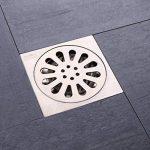 Des cerveaux désodorisant toilettes Rondelle de cuivre à drainer Salle de douche drain de sol en acier inoxydable 100 * 100mm-A de la marque MML YSPJ image 1 produit