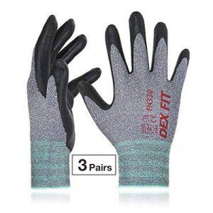 DEX FIT gants de travail, 3D poignée de préhension Confort, ajustement élastique mince en nylon Spandex et lavable en machine Moyen Gris de la marque DEX FIT image 0 produit