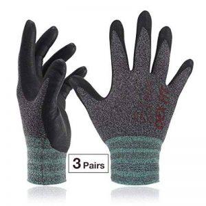DEX FIT gants de travail, 3D poignée de préhension Confort, ajustement élastique mince en nylon Spandex et lavable en machine Petit Gris de la marque DEX FIT image 0 produit