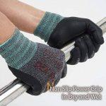DEX FIT gants de travail, 3D poignée de préhension Confort, ajustement élastique mince en nylon Spandex et lavable en machine Petit Gris de la marque DEX FIT image 2 produit