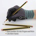 DEX FIT gants de travail, 3D poignée de préhension Confort, ajustement élastique mince en nylon Spandex et lavable en machine Petit Gris de la marque DEX FIT image 3 produit