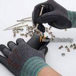 DEX FIT gants de travail, 3D poignée de préhension Confort, ajustement élastique mince en nylon Spandex et lavable en machine Petit Gris de la marque DEX FIT image 4 produit