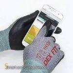 DEX FIT gants de travail, 3D poignée de préhension Confort, ajustement élastique mince en nylon Spandex et lavable en machine Moyen Gris de la marque DEX FIT image 5 produit