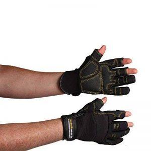 elysee CARPENTER Gant de protection mécanique / charpentier en cuir synthétique Noir Noir s de la marque Elysée image 0 produit