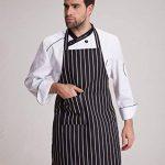 Feoya - Tablier de Cuisine Longue Durable Femme Homme avec Poche Tablier de Travail à Rayures pour Café Bistrot Barbecue de la marque FEOYA image 2 produit