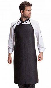 FEOYA Tablier de Cuisine Longue en Cuir Femme Homme Tablier de Travail pour Restaurant Chef de la marque FEOYA image 0 produit
