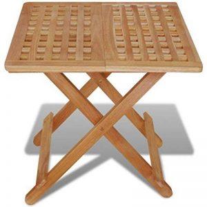 Festnight Table de jardin en Bois Pliante Table d'appoint 50 x 50 x 49 cm Bois de noyer massif de la marque Festnight image 0 produit