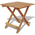 Festnight Table de jardin en Bois Pliante Table d'appoint 50 x 50 x 49 cm Bois de noyer massif de la marque Festnight image 2 produit